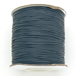 waxkoord 0,5 mm 10 meter kleur slate grey/donkergrijs