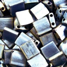 TL5-2002 Miyuki Tila 5x5mm - 5 gram - kleur  Matte Metalic Silver
