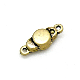 DQ metaal BRAS ANTIQUE magneetsluiting met 2 oogjes 7x17mm (B07-046-BA)
