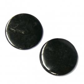 schelp kraal rond 25mm kleur zwart (BJSC021)