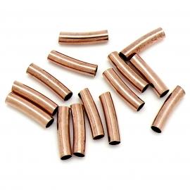DQ metaal ROSEGOUD kraal tube gebogen 5x20mm gat 4mm (B01-077-RG)