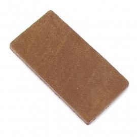 DQ leather gestanste rechthoek 30x60mm - dik 4,5mm kleur buffel natural (ST-RH-002)