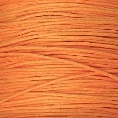 waxkoord 0,5 mm 1 meter licht oranje