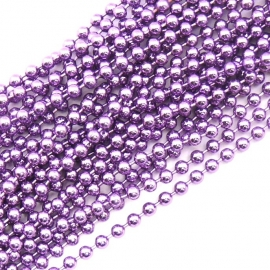 ballchain 2mm - lengte 1m (code BJ911) kleur Purple