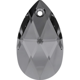 Swarovski Teardrop Pendant 6106 28mm - Crystal Silver Night - 1 stuk