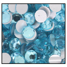 Swarovski platte steen SS16 - kleur Aquamarine
