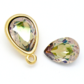 swarovski druppel 4320 10x14mm kleur crystal luminous green Limited Edition (BSDR-024)