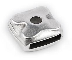 DQ metaal schuifkraal vierkant voor 10mm plat leer (B04-019-AS)