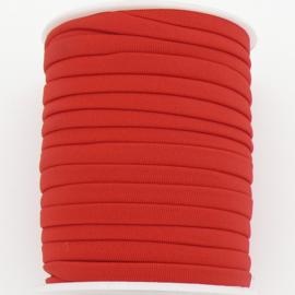 Habotai elastisch zijdekoord - kleur Red - 3x5mm - lengte 2 meter (no 02)