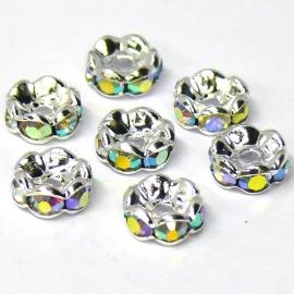 strass rondel SPL crystal AB maat 8mm (SD06293) - 5 stuks