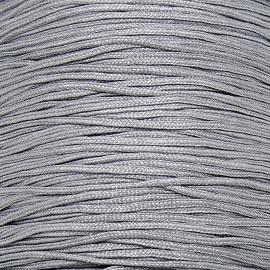 mousetailkoord 0,7mm (dun satijnkoord) - kleur zilvergrijs nr. 046 - 5 meter (BMT-12)