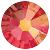 Swarovski platte steen SS16 - kleur Light Siam AB