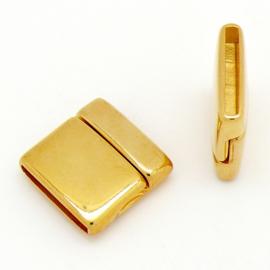 DQ metaal magneetsluiting voor 20mm plat leer, gat 20x2.5mm (B07-112-SG)