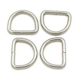 D-ring maat  2x13x17,5mm tbv 10/11 mm breed leer - 10 stuks