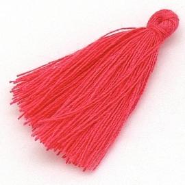kwastje satijn lengte circa 30mm kleur magenta (KW-30-008)