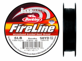Fireline 6 LB (0,20mm) 50 yards (45m) kleur Smoke 6LB