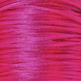 satijnkoord 2mm 5 meter kleur fuchsia