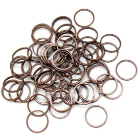 Brass Linkring Brass Antique - doorsnede 12mm - dikte 1mm - 10 stuks