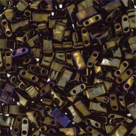 HTL-0458 Miyuki Half Tila 5x2,3mm - 5 gram - kleur metalic brown iris