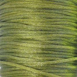 satijnkoord 2mm 5 meter kleur mosgroen