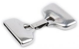 DQ metaal clipsluiting voor 30mm breed leer (gat2,5x30mm) (B07-004-AS)