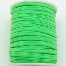 Habotai elastisch zijdekoord - kleur LawnGreen - 3x5mm - lengte 2 meter (no 06)