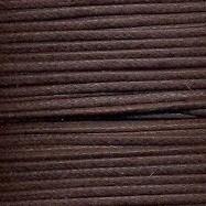 waxkoord 1mm 1 meter kleur donkerbruin
