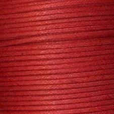 waxkoord 0,5 mm 1 meter kleur oranje/rood