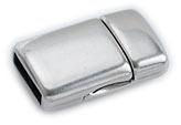 DQ metaal magneetsluiting voor 10mm plat leer, gat 2x10mm (B07-002-AS)
