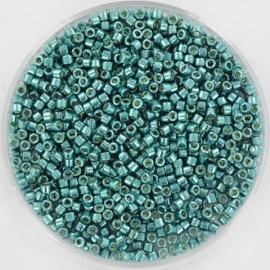 DB1847 Miyuki Delica 11/0 - 5 gram - kleur duracoat galvanized sea foam