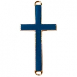 GOUD Tussenzetsel kruis 23x46mm kleur donkerblauw (BK15999)