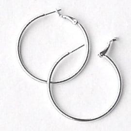 oorbel creool SPL zilver 15mm doorsnede per paar (AB86140)