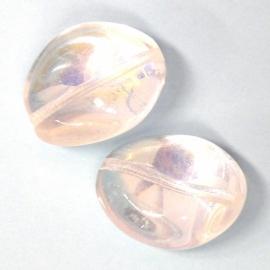 glaskraal crystal AB nugget ovaal  22x26mm (AB83380)