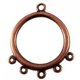 DQ metaal ring met 5 ogen 35x41mm (BK13302)