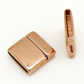 DQ metaal magneetsluiting voor 20mm plat leer, gat 20x2.5mm (B07-112-RG)