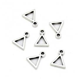 DQ metaal bedel klein driehoek frame maat 9x11mm (B02-147-AS)