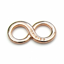 DQ metaal ROSE GOLD tussenzetsel INFINITY 17x35mm (B03-005-RG)