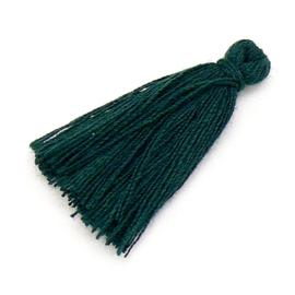 kwastje satijn lengte circa 30mm kleur dark green (KW-30-033)