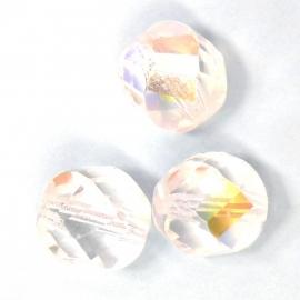 glaskraal crystal AB rond facet twist 14mm (AB83771)