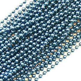ballchain 2mm - lengte 1m (code BJ930) kleur sapphire blue