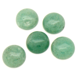 cabochon natuursteen - green aventurine - rond 15mm (SD21761)