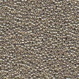 MR8-4201 Miyuki Rocailles 8/0 - 10 gram - kleur Duracoat Galvanized Silver