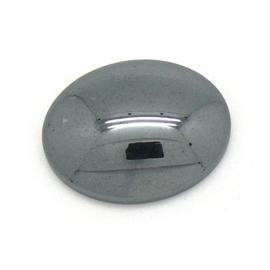 cabochon natuursteen ovaal -hematite - 6x23x30mm - 1 stuks