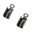 veterklem bnpl zwart metaal (12mm) 2/3veters (AB2298-1)
