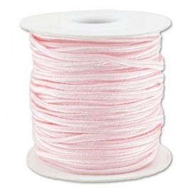 Soutache braid 3mm - color very light pink - lengte 1m (BRF-253)