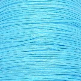 mousetailkoord 0,7mm (dun satijnkoord) - kleur lichtblauw nr.022 - 5 meter (BMT-08)