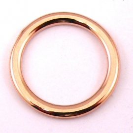 DQ metaal ROSE GOUD Ring 25mm (M7329)