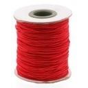stoffen elastiek 1mm dik lengte 2 meter - kleur rood (AB84853)