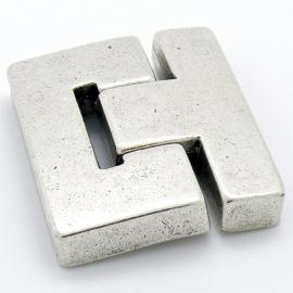 DQ metaal magneetsluiting T-shape maat 36x41mm gat 3x38mm (B07-075-AS)