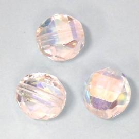 glaskraal crystal AB rond facet plat 12mm (BK5331)